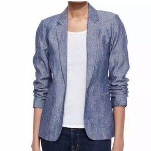 JOIE Mehira blue linen blazer jacket